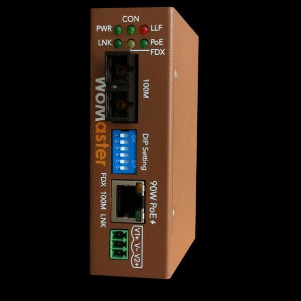 WoMaster introduit un convertisseur fibre mini–taille PoE