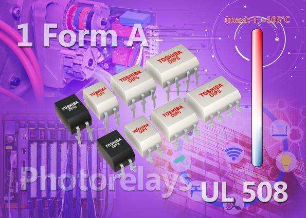 Les relais photoélectriques haute intensité Toshiba obtiennent la certification UL 508