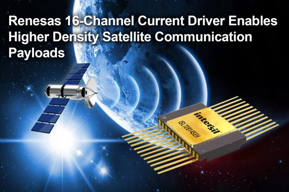 Renesas Electronics lance un driver de courant résistant aux radiations