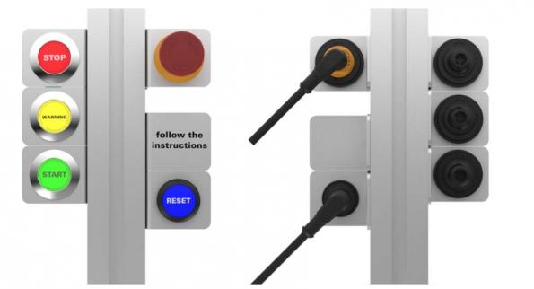 Boutons-poussoirs et commutateurs industriels autonomes à connexion M12