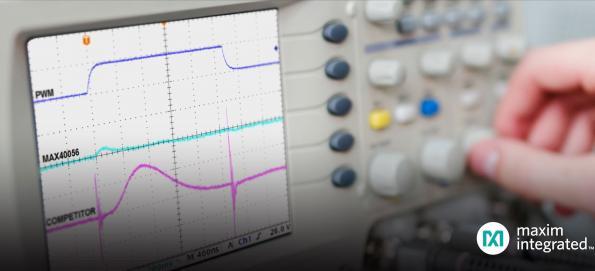 Amplificateur Maxim à détection bidirectionnelle de courant et réjection PWM