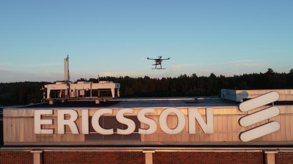 Ericsson met au point une méthode de vérification de la couverture 5G avec un drone