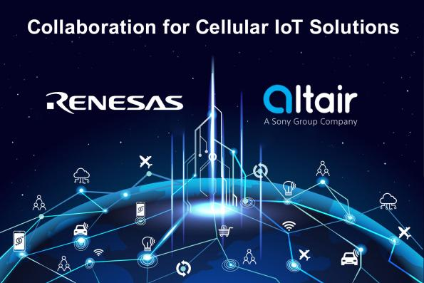 Renesas et Altair Semiconductor annoncent leur collaboration pour des Solutions IoT Cellulaires