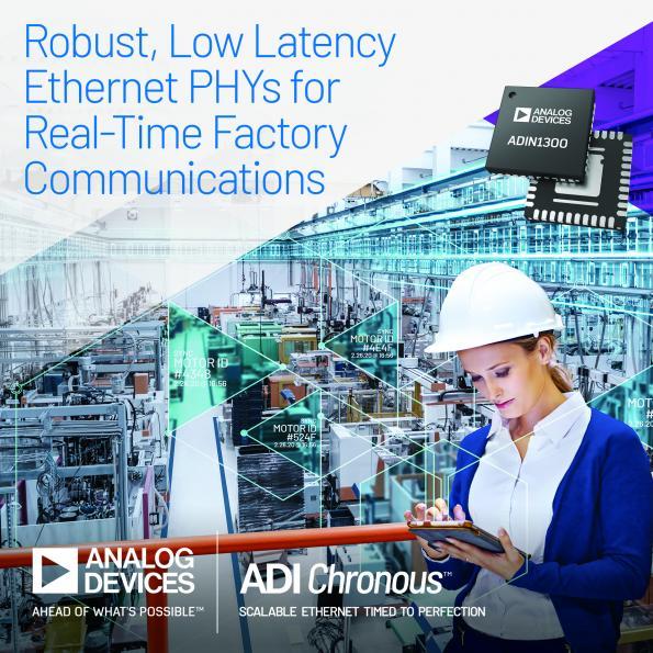 Analog Devices dévoile une technologie PHY robuste à faible temps de latence
