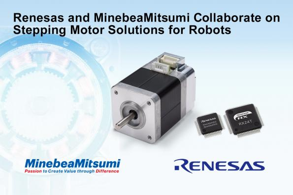 Renesas et Minebea Mitsumi collaborent au développement de solutions de moteurs pas à pas