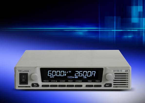 Alimentations DC programmables demi-rack 1U fournissant une puissance de 1 500 W