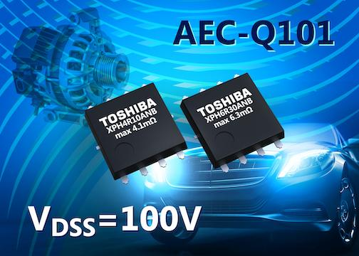 MOSFET canal-N 100V pour applications automobiles
