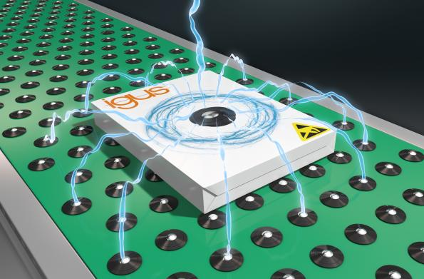 Billes porteuses en polymères éliminant les charges électrostatiques