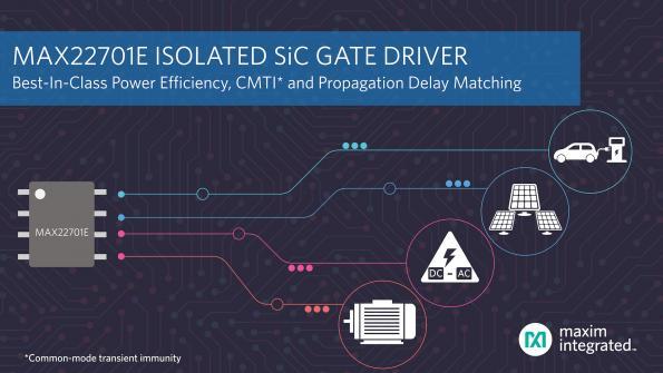 Driver de grille isolé au carbure de silicium haut rendement énergétique