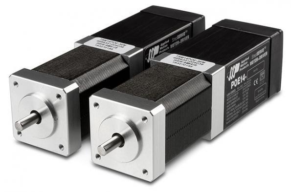 Moteurs miniatures à micropas entièrement alimentés et commandés par Ethernet
