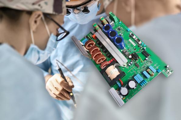 Alimentation pour les lasers médicaux à fort courant de crête