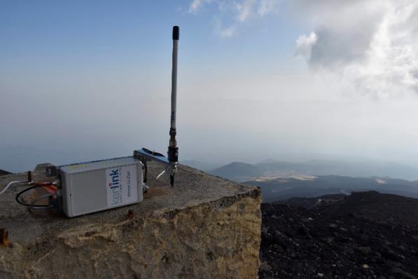 Les stations LoRaWAN de Kerlink équipent une solution de surveillance du radon sur l'Etna