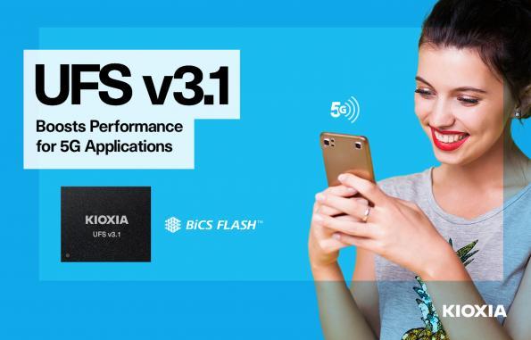 KIOXIA lance des mémoires Flash embarquées UFS Version 3.1