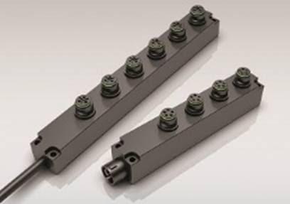 Répartiteurs à 4 et 6 voies pour connecteurs circulaires encliquetables