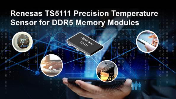 Capteur de température de précision pour les modules de mémoire DDR5