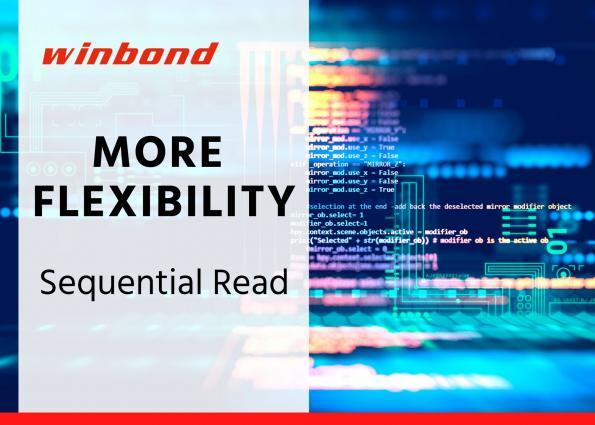 Fonction d'accès séquentiel flexible en Flash QspiNAND haut débit