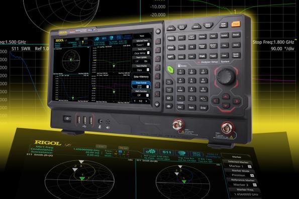 Analyseurs de spectre en temps réel Rigol avec extension VNA