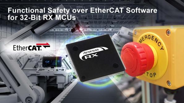 Renesas introduit la sûreté fonctionnelle pour l'EtherCAT dans les microcontrôleurs 32-Bit RX