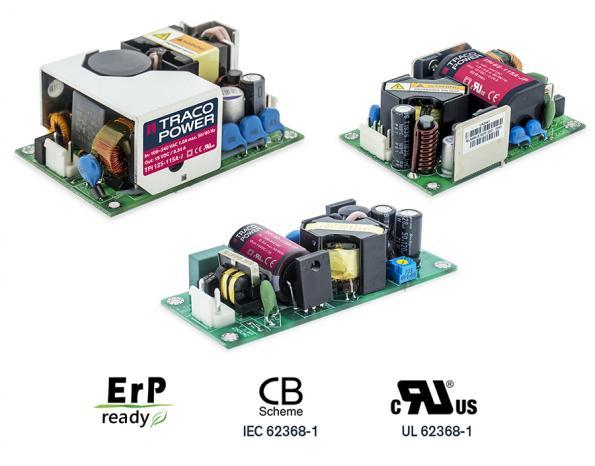 Alimentations compactes AC/DC à cadre ouvert à isolation E/S 3 000 V AC renforcée