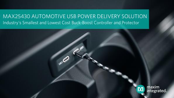 Contrôleur Buck-Boost ouvrant la voie aux ports USB PD dans l'automobile