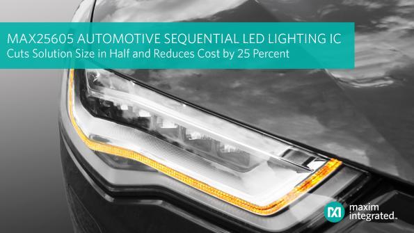 Circuit d'éclairage LED séquentiel pour l'automobile