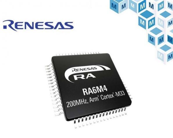 Les microcontrôleurs RA6M4 de Renesas maintenant chez Mouser