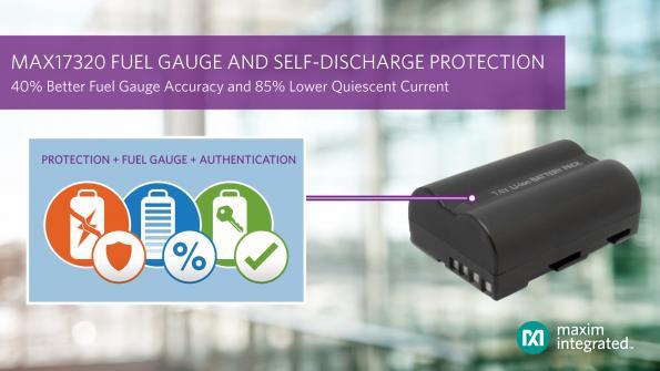 Première jauge de batterie Li+ avec surveillance et protection internes permanentes contre l'auto-décharge