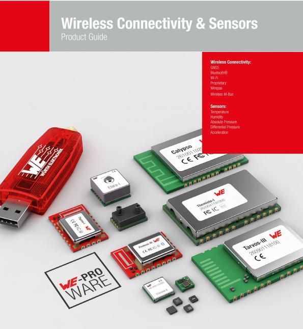 Modules radio et capteurs pour l'IoT et les applications industrielles