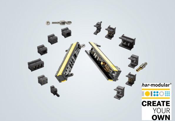 Connecteur 100% configurable à partir modules facilement assemblabes