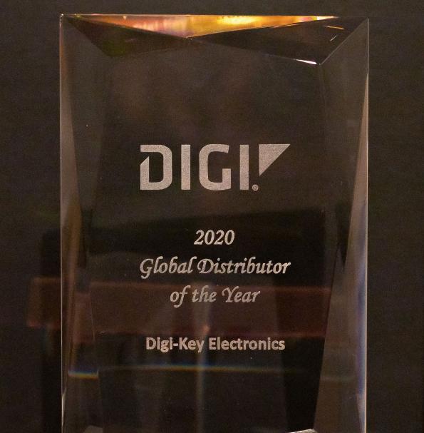 Digi-Key Electronics nommé « Global Distributor of the Year » par Digi International pour la quatrième année consécutive