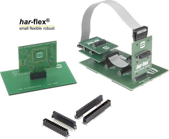 Connecteur sur PCB robuste et compact