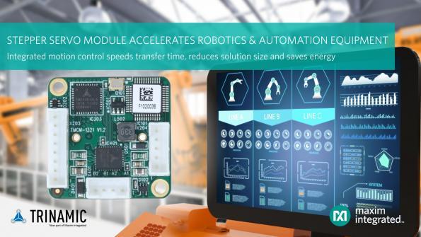 Module servo-contrôleur et driver Trinamic accélèrant les équipements de robotique et d'automatisation
