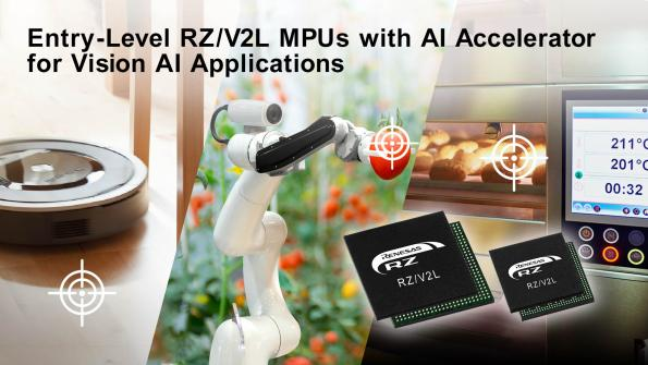 Microprocesseur RZ/V2L d'entrée de gamme