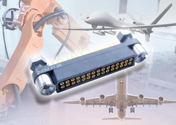 Connecteurs rectangulaires durcis résistant aux vibrations et aux chocs importants