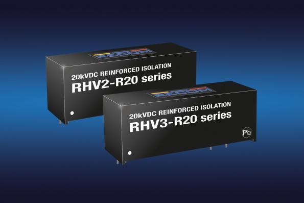 Recom's RHV2 and RHV3 2W and 3W unregulated DC-DC converters haveisolation ratings of 12.5kVAC/one minute or 20kVDC/one second in a SIP16 package
