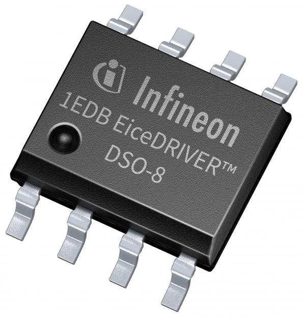Single-channel gate-driver has integrated galvanic isolation