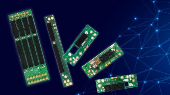 Power and ground-only VPX backplanes for high speed designs