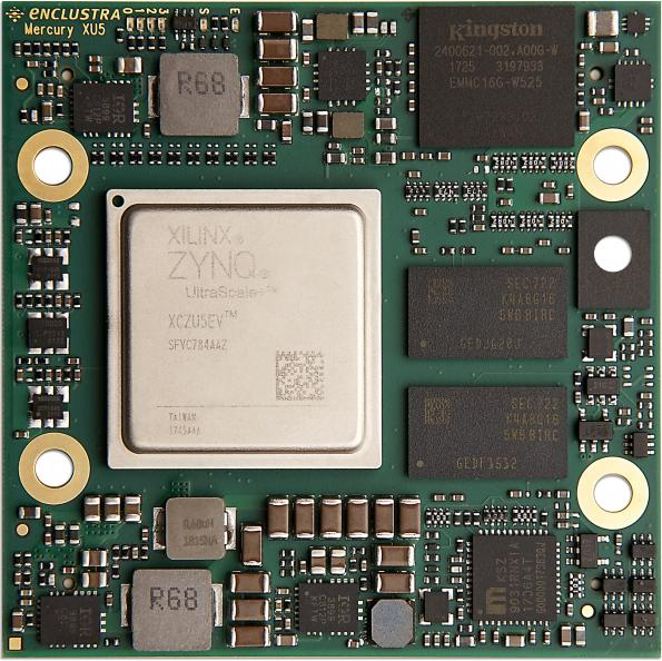 Xilinx Zynq UltraScale+ SoC module with two memory channels