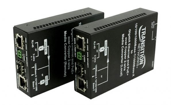 EO2PSE4052-111 (local unit) and EO2PD4052-111 (remote) for PoE+ Ethernet