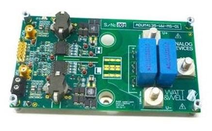 Analog and Microsemi team for high power isolated SiC gate driver board