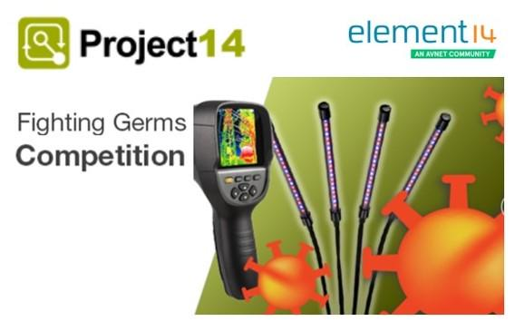 "element14 has launched the ""Fighting Germs"" Project14 challenge to try fight germs and slow the spread of COVID-19."