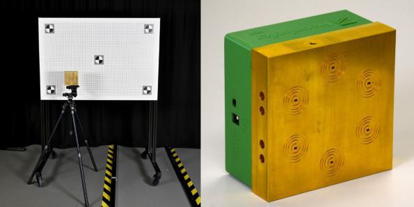 Test system aligns radar and visual cameras