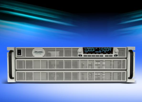 Programmable DC power supplies extended to 10kW and 15kW