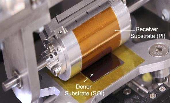 Roll-to-roll printing for flexible silicon electronics