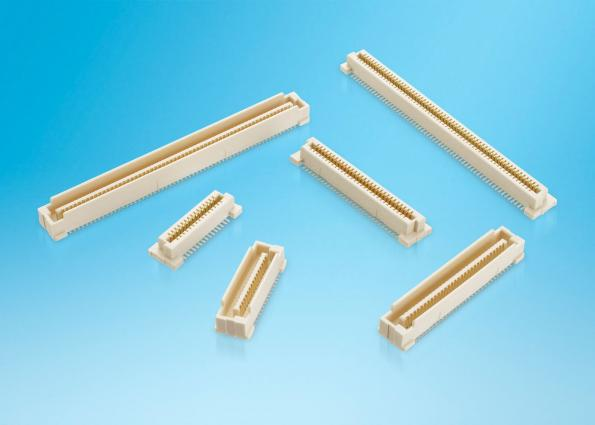 High pin count 0.8mm mezzanine connector for industrial systems