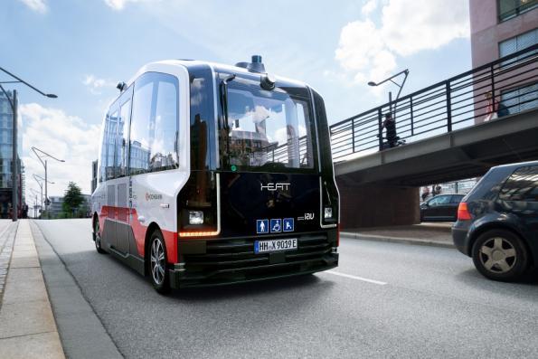 Driverless minibus service rolls out in Hamburg traffic