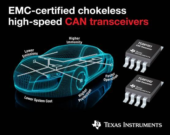 CAN FD transceivers offer high EMC performance, short loop delay