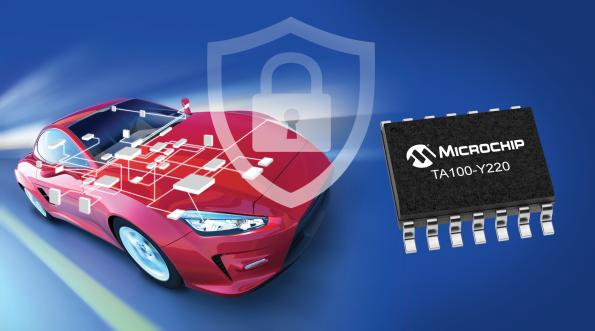 Microchip has announced its CryptoAutomotive security IC, the TrustAnchor100 (TA100) to support in-vehicle network security solutions.