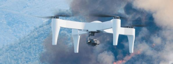Drone integrates battery cells into structure to boost flight time