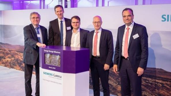Siemens Gamesa has started up an electrothermal energy storage system based around volcanic rock